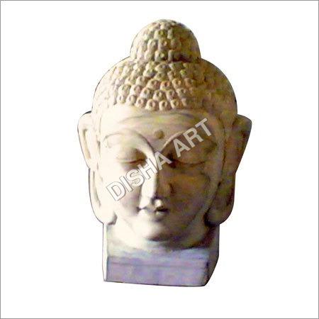 Wooden Buddha Face Statue