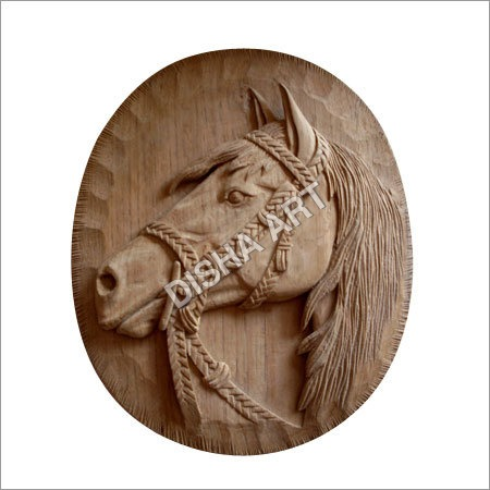 Wooden Horse Wall Piece