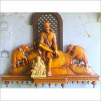Wooden Sai Statue