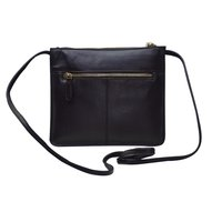 Finished Leather Sling Bag Color Black