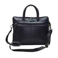 Finished Leather Laptop Bag Color Black
