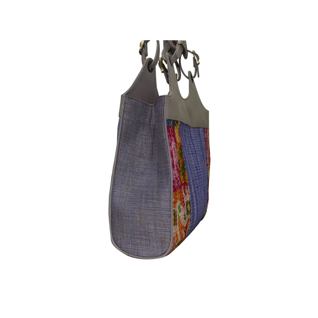 Cotton Leather Shoulder Bag