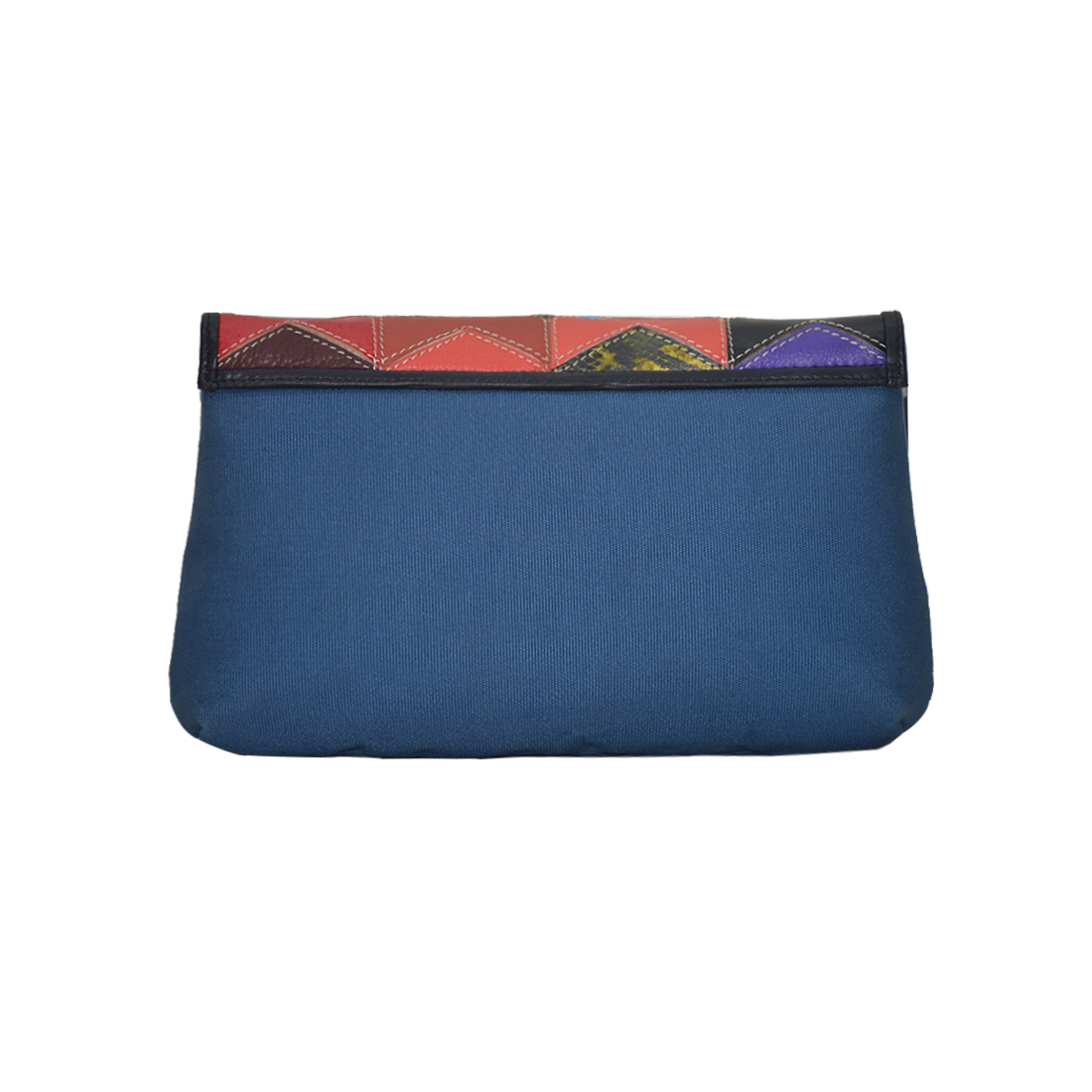 Canvas Leather Clutch Bag