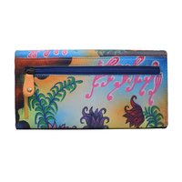Hand Painted Leather Clutch Colorful