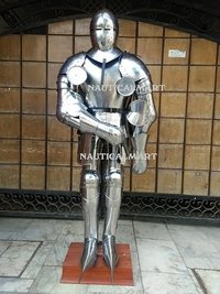 Plate Armour Medieval Great bascinet Larp Full Suit Of Armor - Halloween Costume