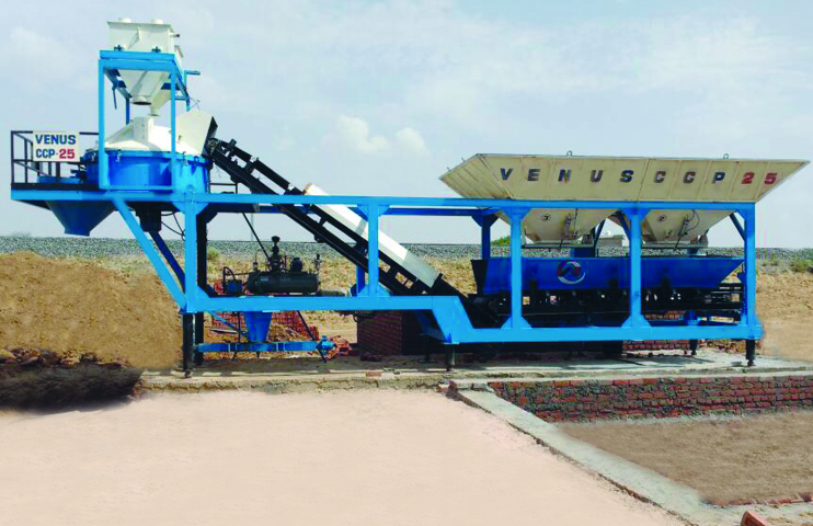 Compact mobile concrete batching plant