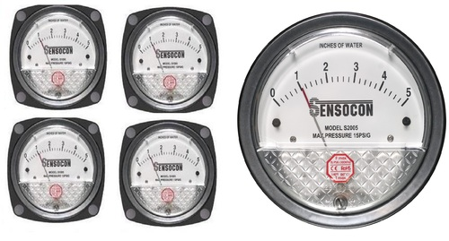 Front Mount Differential Pressure Gauge