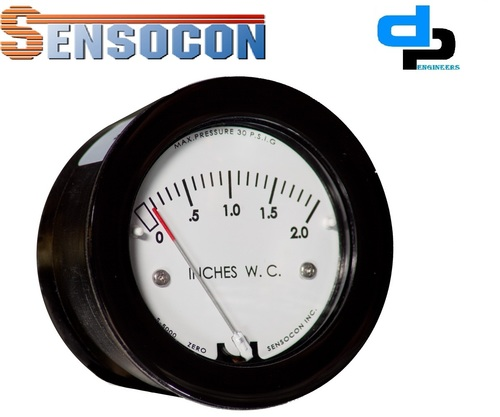 Sensocon USA Miniature Low Cost Differential Pressure Gauge Series Sz-5000-0