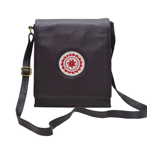 Leather Travel Bag Color Dark Brown