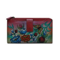 Ladies Hand Painted Leather Clutch