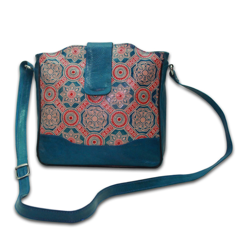 Hand Painted Leather Shantiniketan Bags