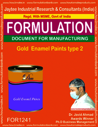 Gold Enamel Paints type 2 Formulation
