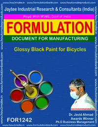 Glossy Black Paint for Bicycles Formulation