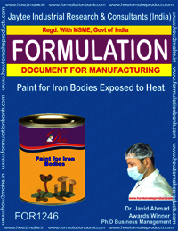 Paint for Iron Bodies Exposed to Heat Formulation