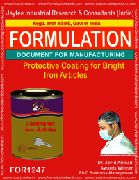 Protective Coating for Bright Iron Articles Formula