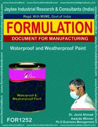Waterproof and WeatherProof Paint Formulation