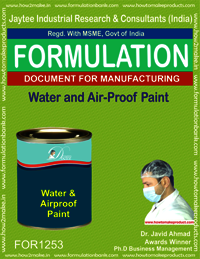 Water and Air-Proof Paint Formulation