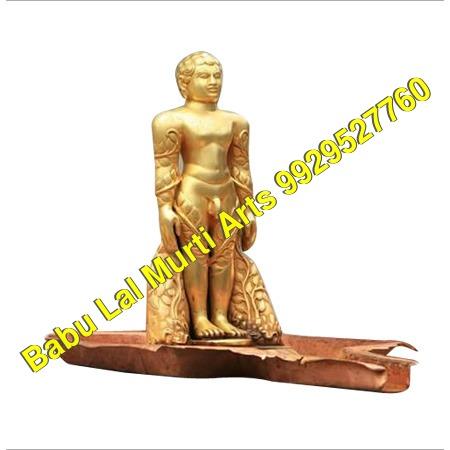 Gold Plated Digambar Jain Statue