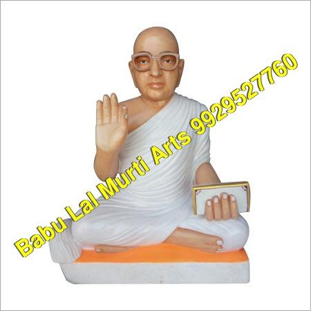 Marble Shwetambar Statue
