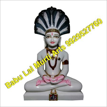 White Marble Shewtambar Statue