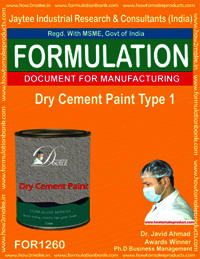 Dry Cement paint type 1 Formulation