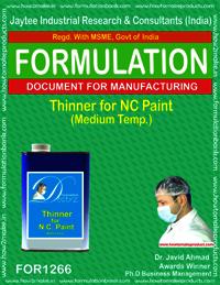 Thinner for NC paint (medium temp.)