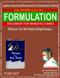 Thinner for NC Paint (HIgh temp.)