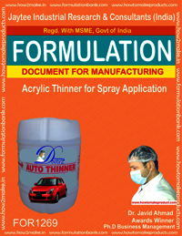 Acrylic Thinner for Spray Application Formulation