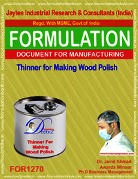 Thinner for Making Wood Polish from Seedlac Formula
