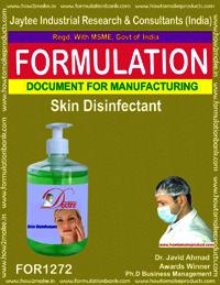 Skin disinfectant making formula