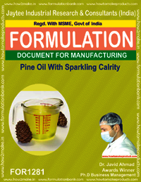 Pine oil with sparkling clarity for disinfectant