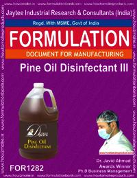 Pine oil Disinfectant Formulation Type 3