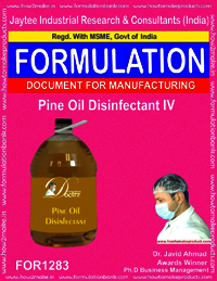 Pine oil Disinfectant IV Formulation