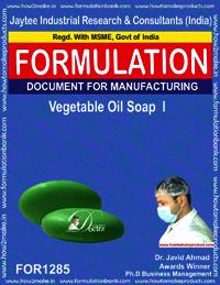 Vegetable Oil Soap I Formulation