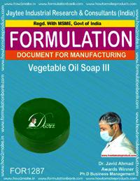 Vegetable Oil Soap III Formulation