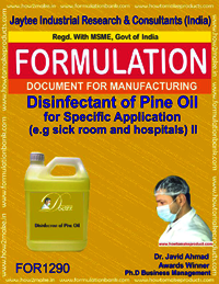 Disinfectant of Pine Oil for Specific Application