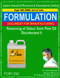 Removing of odour from pine oil disinfectant II
