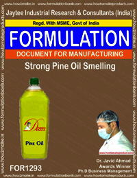 Strong pine oil smell disinfectant