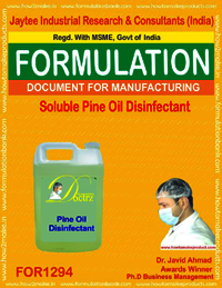 Soluble pine oil disinfectant