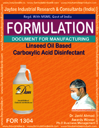 Linseed Oil Based Carboxylic Acid Disinfectant
