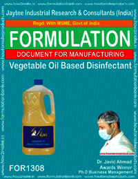 Vegetable Oil Based Disinfectant