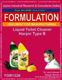 Liquid Toilet Cleaner Harpic Type B Formulation