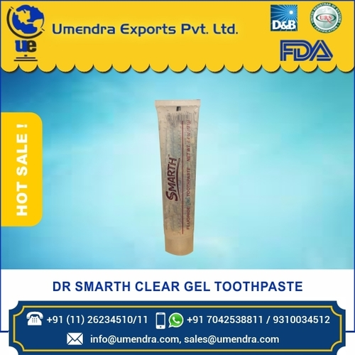 DR SMARTH CLEAR GEL TOOTHPASTE 6.4 oz
