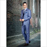 3 Piece Checked Suit