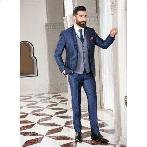 Designer Blue 3 Piece Suit