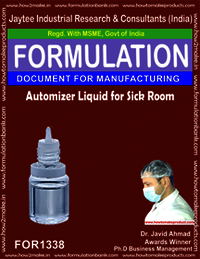 Automizer liquid for sick room disinfection