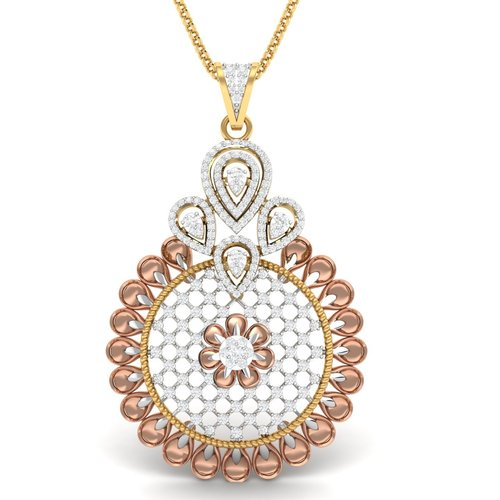 designer pipe diamond pendant