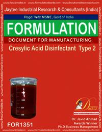 Cresylic acid Disinfectant formula 2
