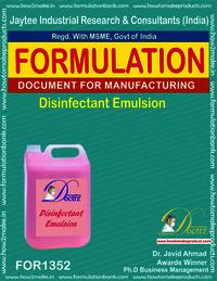 Disinfectant emulsion making formulation