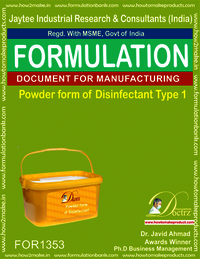 Disinfectant powder form type 1